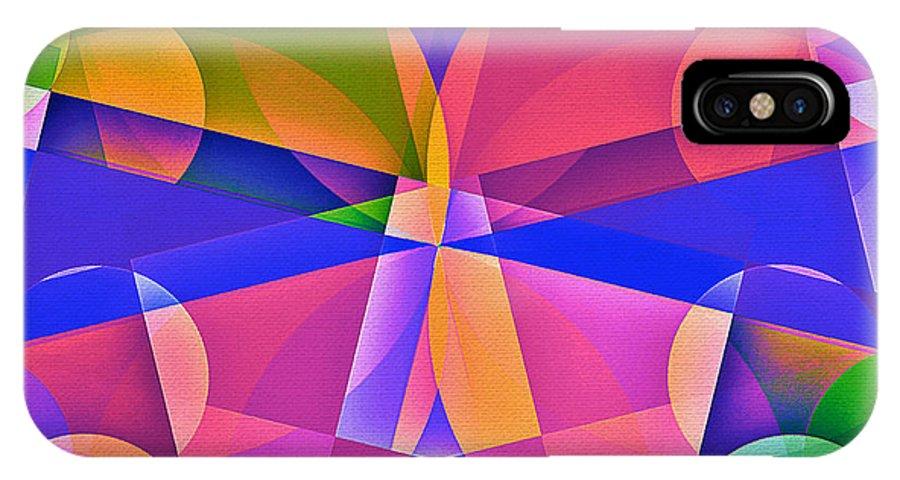 Geometric Art IPhone X Case featuring the digital art Mod 141 by Aurelio Zucco
