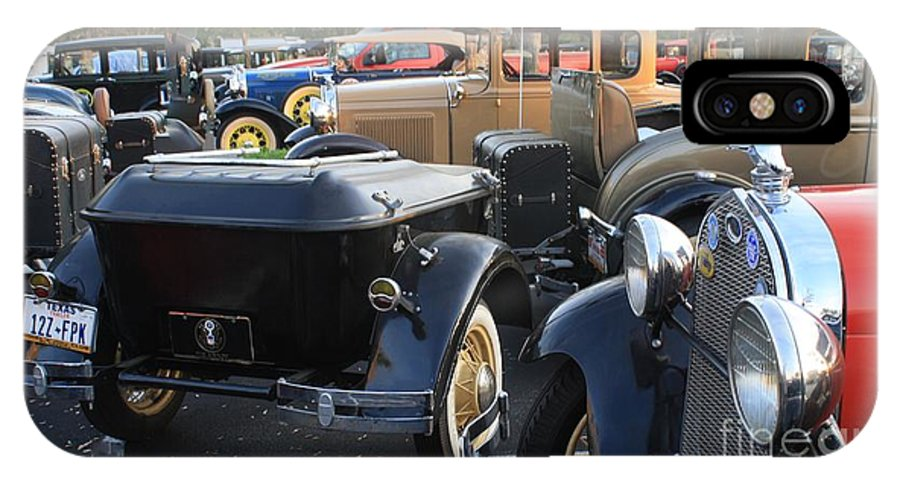 Model A Cars IPhone X Case featuring the photograph Model A With Trailor by Connie Mueller