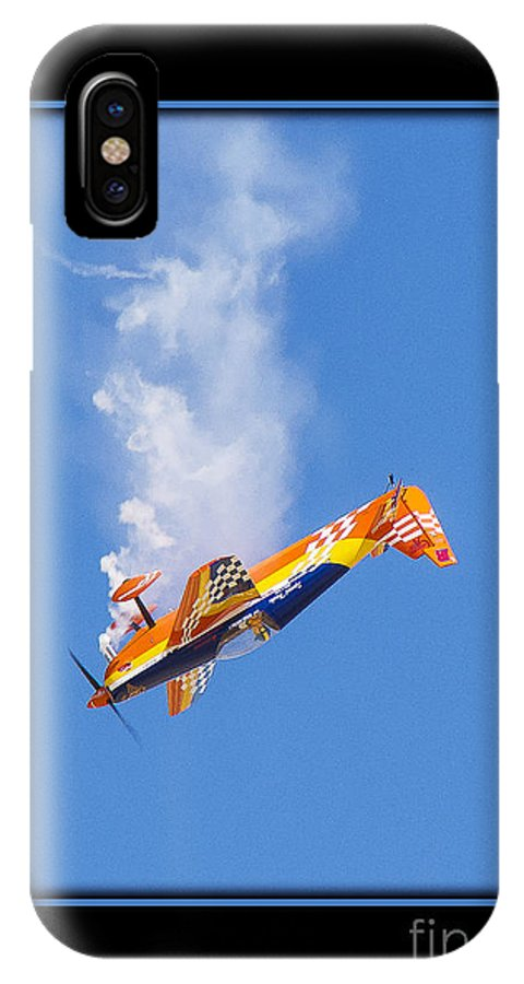 Plane IPhone X Case featuring the photograph Model Plane 10 by Larry White