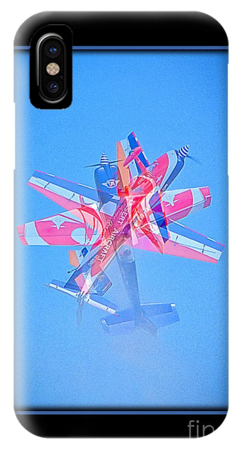 Plane IPhone X Case featuring the photograph Model Plane 12 by Larry White