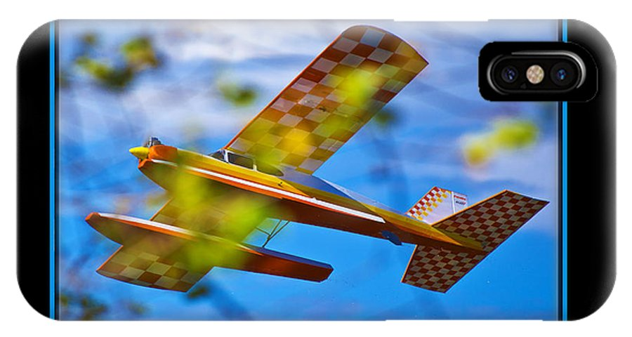 Plane IPhone X Case featuring the photograph Model Plane 2 by Larry White