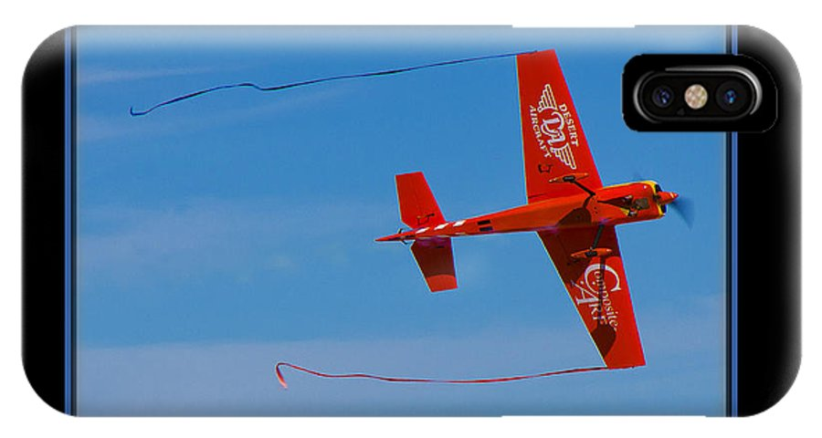 Plane IPhone X Case featuring the photograph Model Plane 6 by Larry White