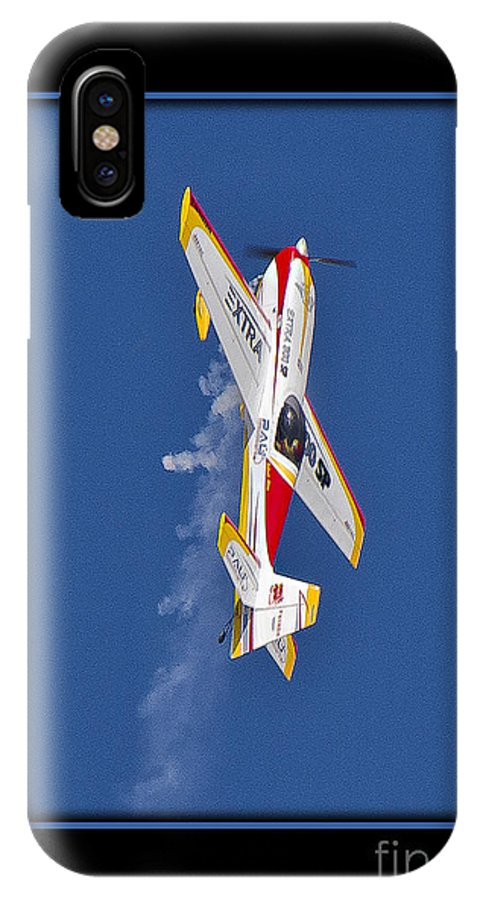 Plane IPhone X Case featuring the photograph Model Plane 9 by Larry White