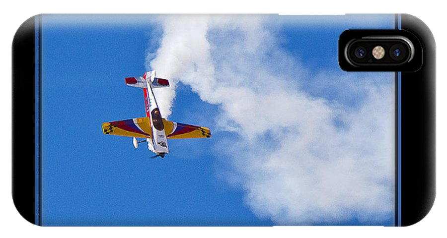 Plane IPhone X Case featuring the photograph Model Plane by Larry White