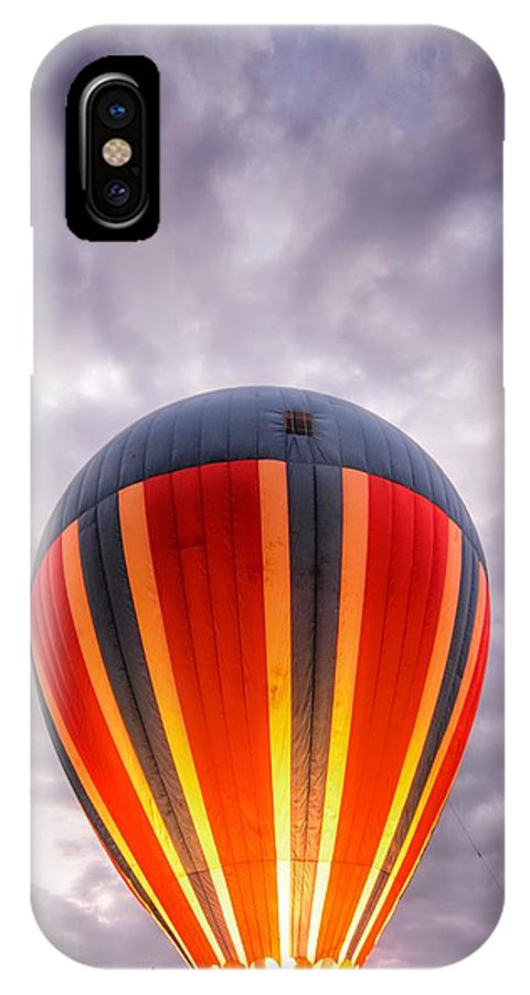 Hot Air Balloon IPhone X Case featuring the photograph Model T With Stormy Skies by Heather Reichel