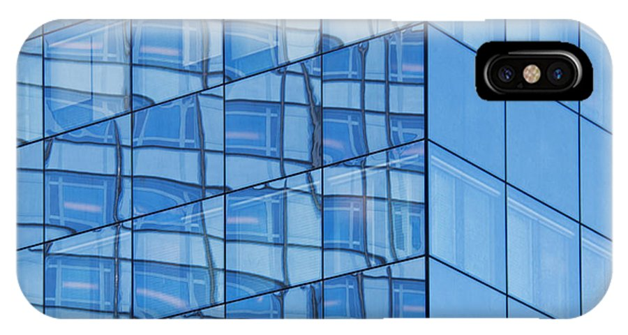 Abstract IPhone X Case featuring the photograph Modern Architecture Abstract by Liz Leyden