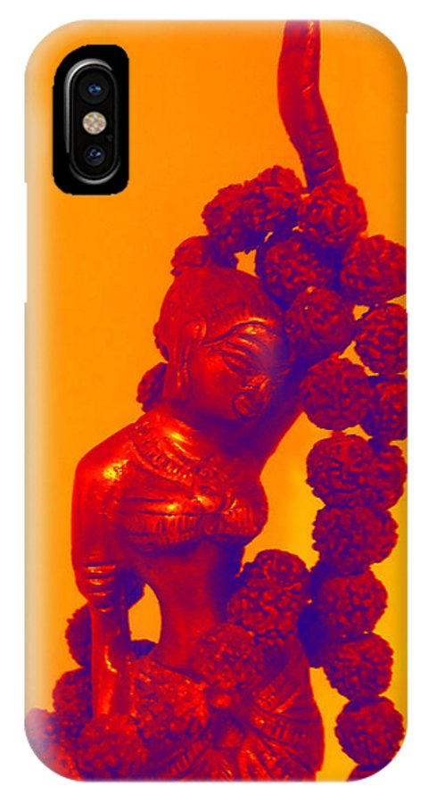 Orange IPhone X Case featuring the photograph Modern Shakti by Sherry Dooley