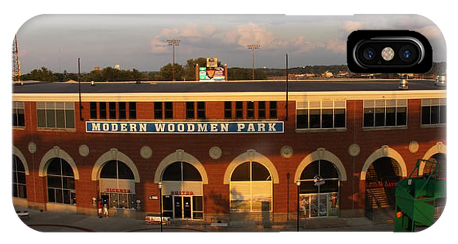 Modern Woodmen Ball Park Photographs IPhone X Case featuring the photograph Modern Woodmen Stadium by Heidi Brandt