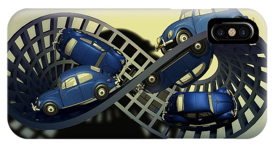 Escher IPhone X Case featuring the digital art Moebius Strip by Andrei SKY