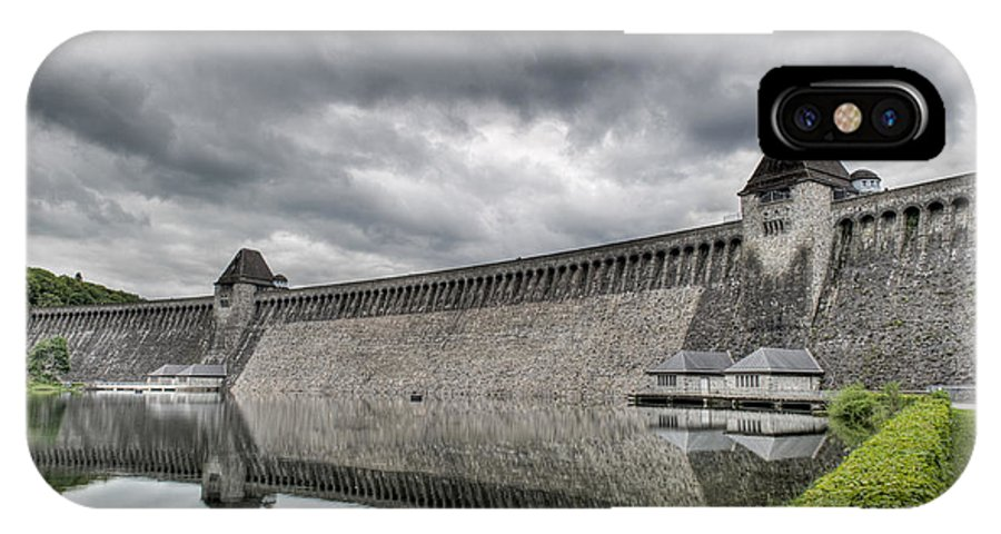 Mohne Dam IPhone X Case featuring the photograph Mohne Dam Wide View by Gary Eason