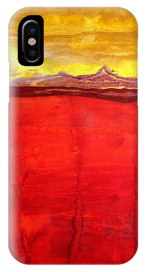 Mojave IPhone X Case featuring the painting Mojave Dawn Original Painting by Sol Luckman