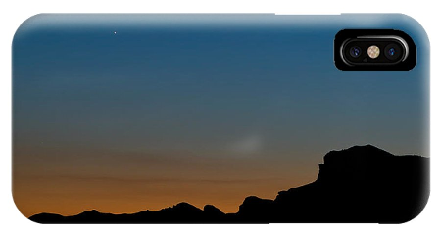 Landscapes IPhone X Case featuring the photograph Mojave Sunset by Jim Thompson