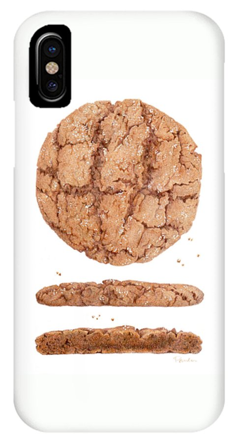 Molasses IPhone X / XS Case featuring the drawing Molasses Cookie by Paula Pertile