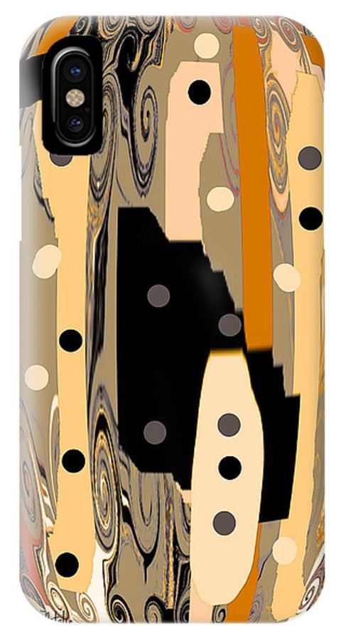 Venetian IPhone X Case featuring the mixed media Mom's Venetian Glass Vase 14 by Natalie Holland