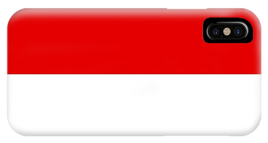 Monaco IPhone X Case featuring the digital art Monaco Flag by Frederick Holiday