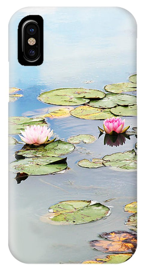 Water Lilies IPhone X Case featuring the photograph Monet's Garden by Brooke T Ryan