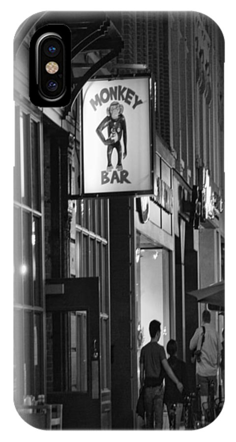black And White IPhone X Case featuring the photograph Monkey Bar by Pat Cook