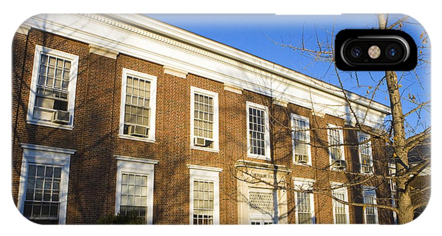 Mcintire School Of Commerce IPhone X Case featuring the photograph Monroe Hall University Of Virginia by Jason O Watson