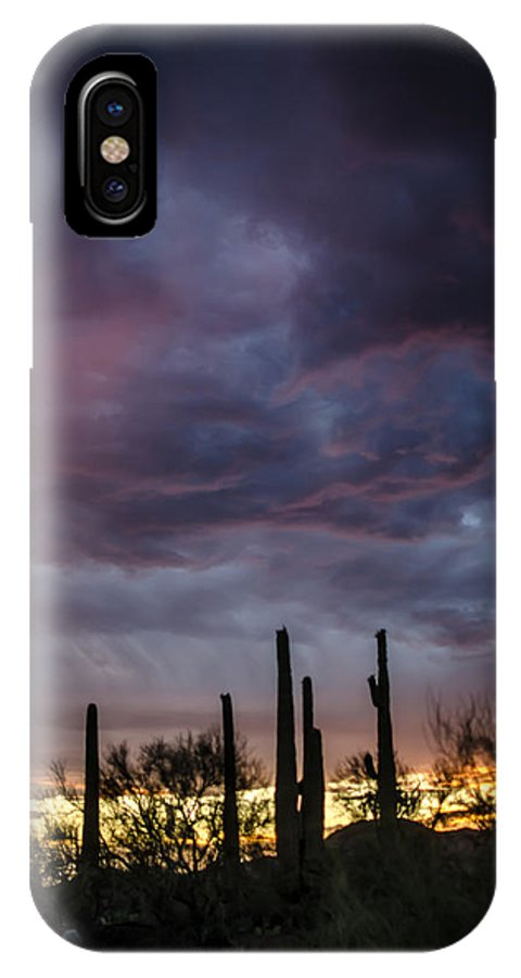 Monsoon IPhone X Case featuring the photograph Monsoon Sunset by Stacy Fortson