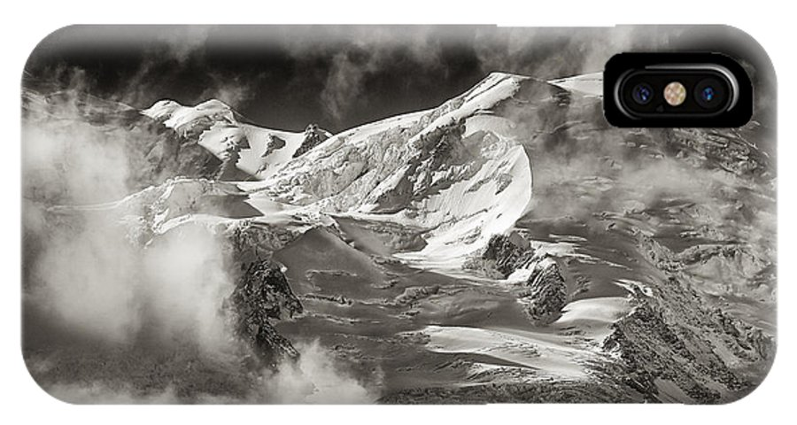 Western Alps IPhone X Case featuring the photograph Mont Blanc Group by Juergen Klust