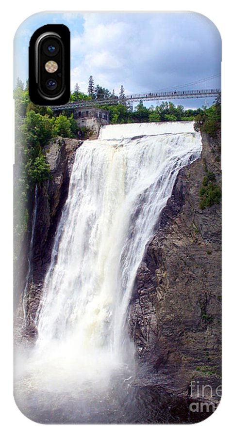 Quebec Cityscape IPhone X Case featuring the photograph Mont Morency Falls by Lingfai Leung