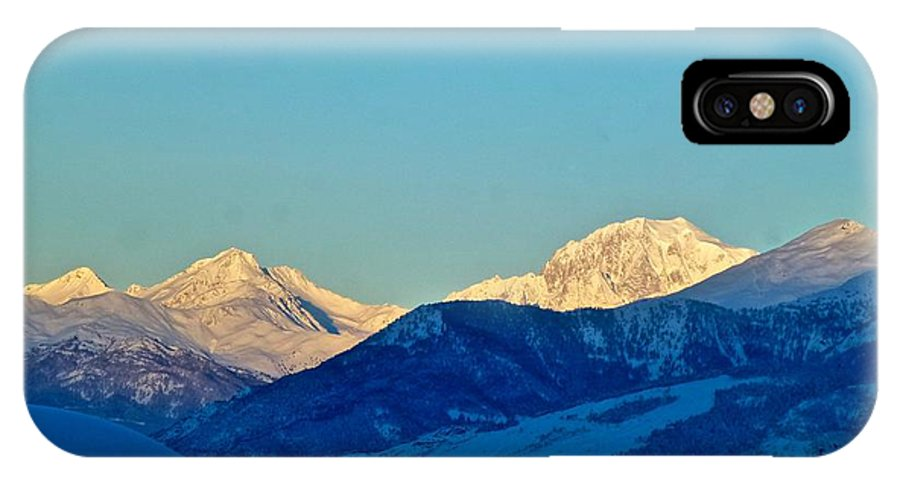 Cervino IPhone X Case featuring the photograph Monte Bianco by Pierfrancesco Maria Rovere