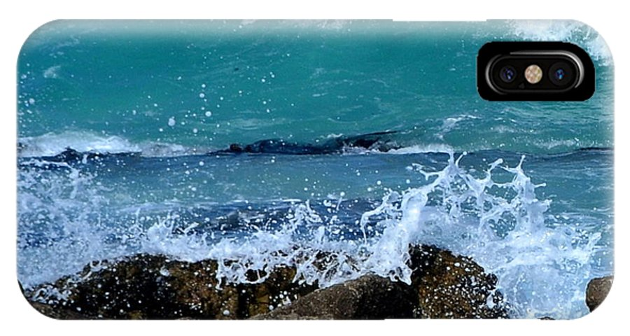 Wave IPhone X Case featuring the photograph Monterey-3 by Dean Ferreira