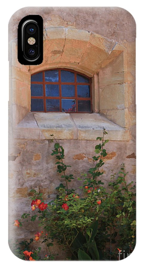 Flowers IPhone X Case featuring the photograph Monterey Church Wall by Steven Baier