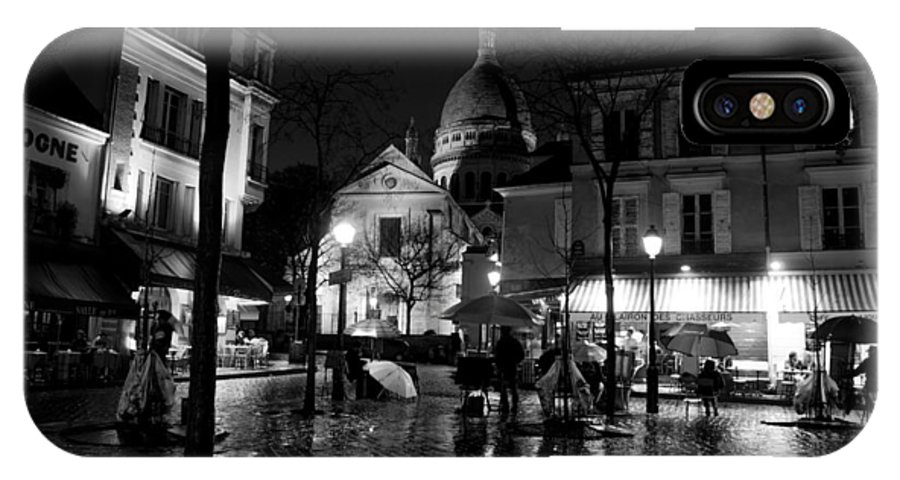 France IPhone X Case featuring the photograph Montmartre Black And White W by Frank Molina