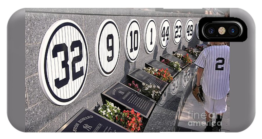 Monument Park Yankee Stadium. Monument Park IPhone X Case featuring the photograph Monument Park - Yankee Stadium by Allen Beatty