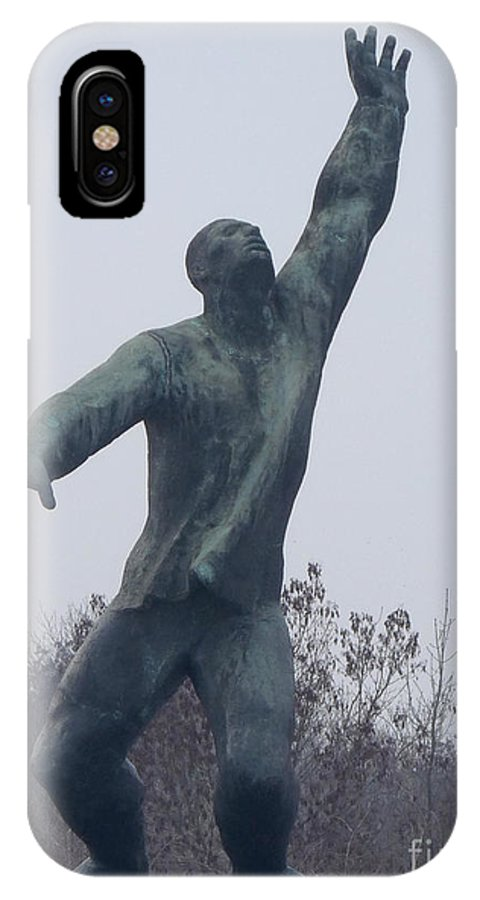 Budapest IPhone X Case featuring the photograph Monument To The Martyrs Of The Counter-revolution by Deborah Smolinske