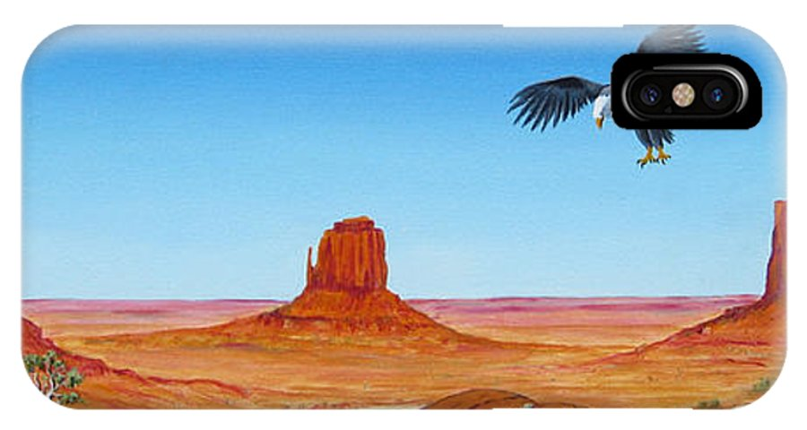 Monument Valley IPhone X Case featuring the painting Monument Valley by Jerome Stumphauzer