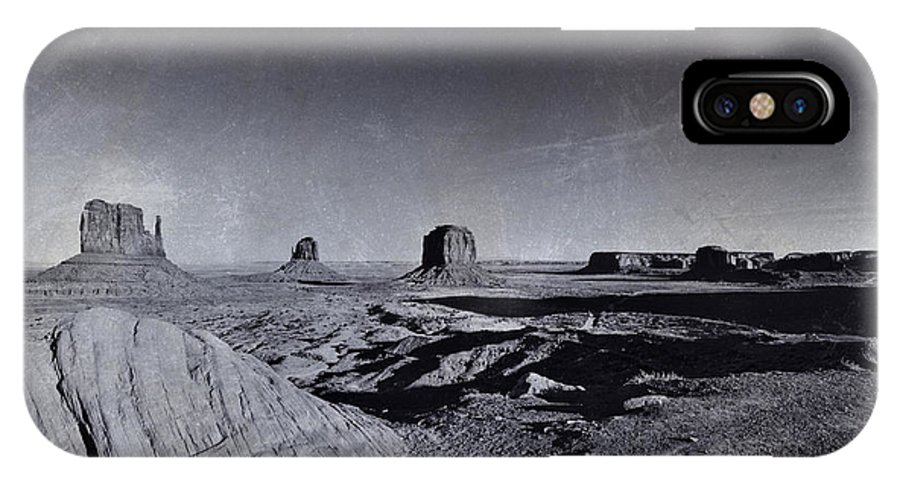 Monument Valley IPhone X Case featuring the photograph Monument Valley -utah by Douglas Barnard