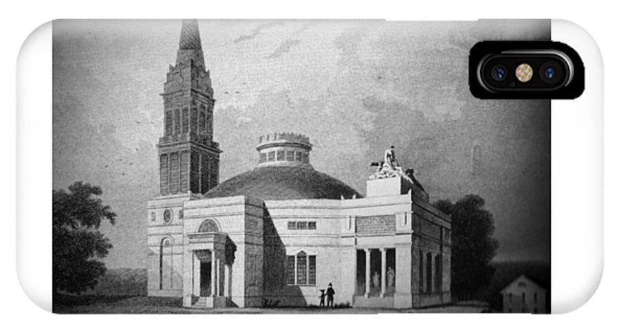 Monumental Church IPhone X Case featuring the digital art Monumental Church - 1812 by John Madison