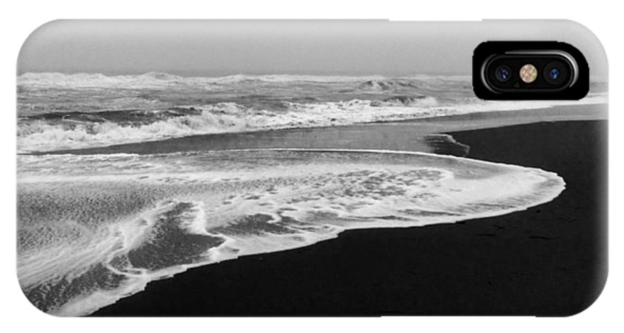Black And White IPhone X / XS Case featuring the photograph Moody Atlantic by MCM Photography