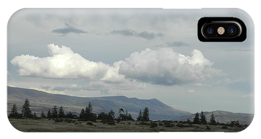 Clouds IPhone X Case featuring the photograph Moody Blues by Jacqueline DiAnne Wasson