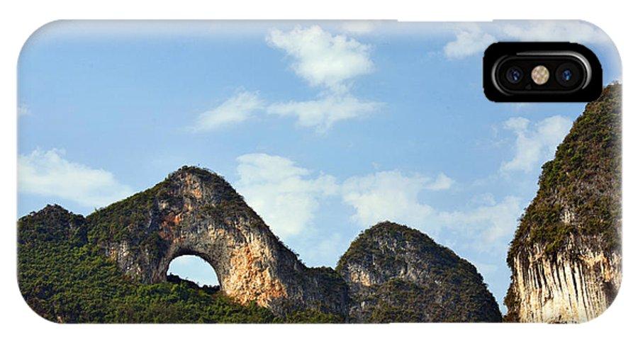 Guangxi IPhone X / XS Case featuring the photograph Moon Hill, Yangshuo, China by David Davis