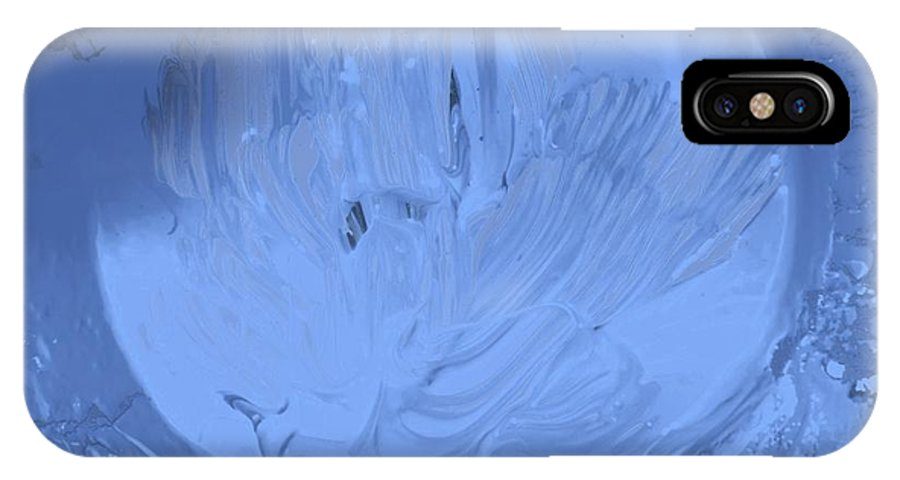 Original IPhone X / XS Case featuring the painting Moon Light In by Artist Ai