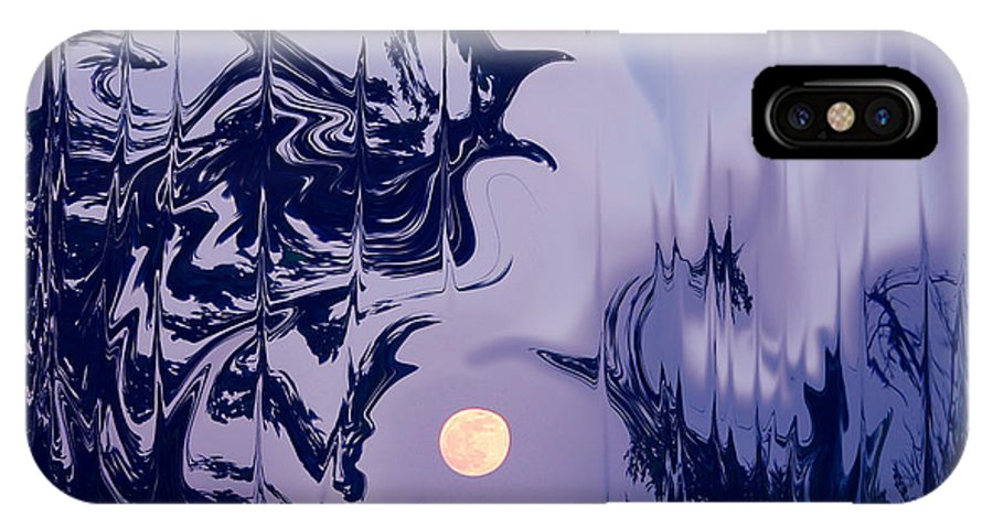 Landscape IPhone X Case featuring the photograph Moon Madness by Nina Fosdick