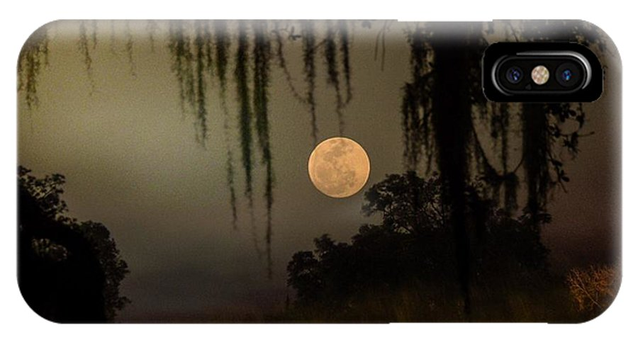IPhone X Case featuring the photograph Moon Mists by John Stokes