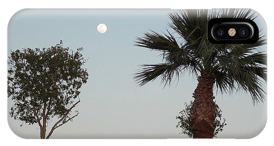 Moon IPhone X / XS Case featuring the photograph Moon Over Baja Desert by Nina Kindred