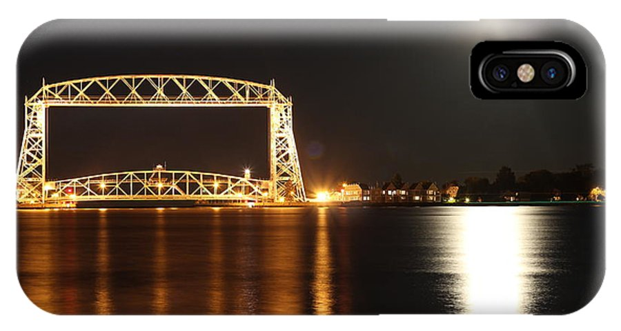Lake Superior IPhone X Case featuring the photograph Moon Over Lake Superior by Blake Johnston
