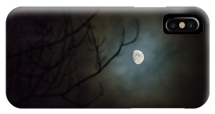 IPhone X Case featuring the photograph Moon Ring by Cheryl Baxter