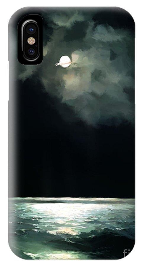 Landscape IPhone X / XS Case featuring the digital art Moonlit Night by Parappurathu Mathews