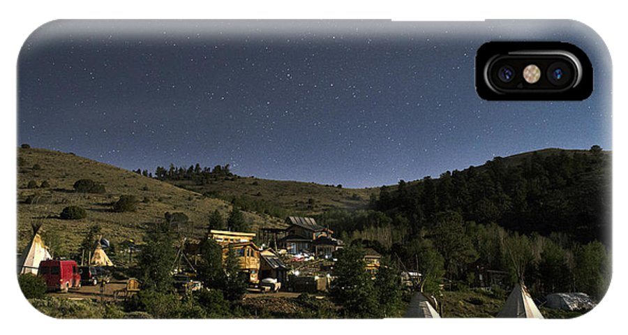 Night Sky IPhone X Case featuring the photograph Moonlit Refuge by Annie White