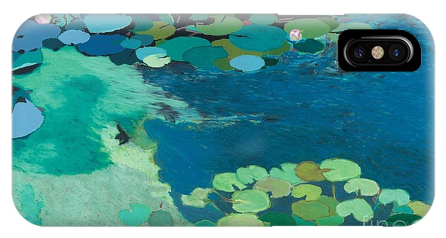 Landscape IPhone X Case featuring the painting Moonlit Shadows by Allan P Friedlander