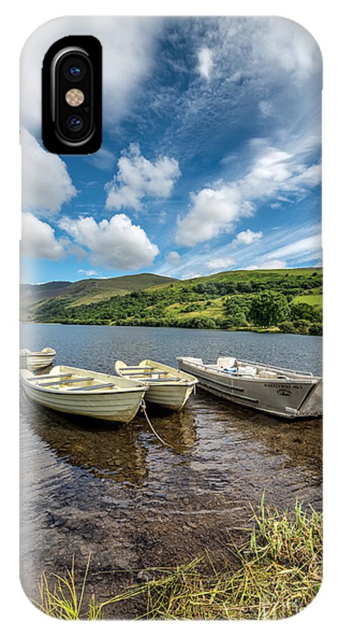 Water IPhone X Case featuring the photograph Moored Boats by Adrian Evans