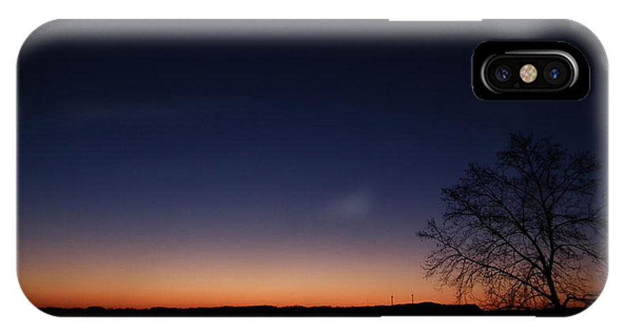 Sunrise IPhone X Case featuring the pyrography morn on the Susquehanna by Jeffrey Wonders