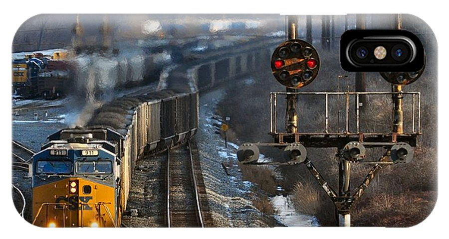 Csx IPhone X Case featuring the photograph Morning At Cumberland Yard by Evan Schilling