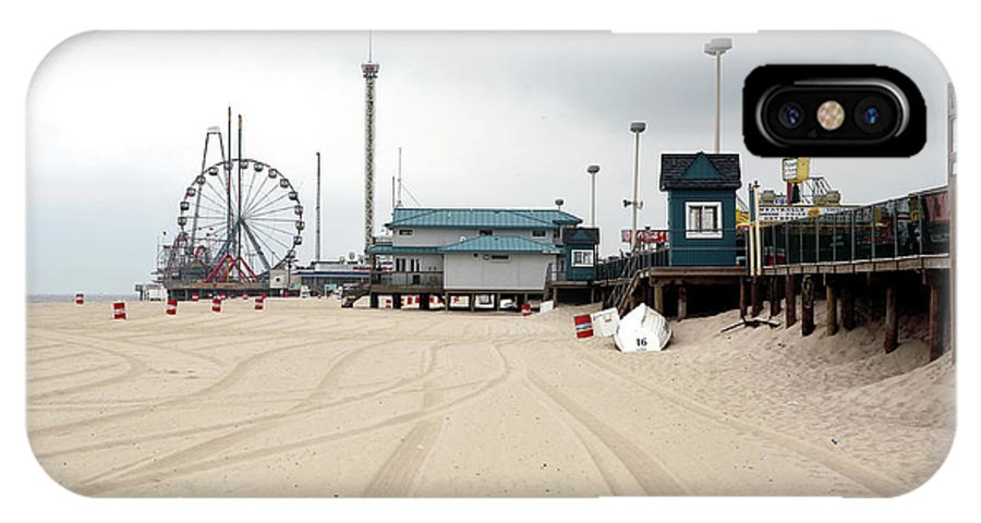 Morning At Seaside Heights IPhone X Case featuring the photograph Morning At Seaside Heights by John Rizzuto